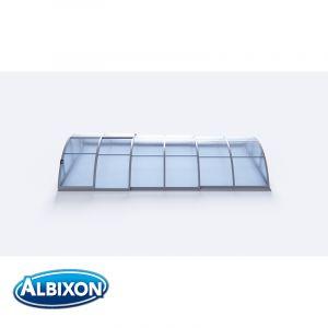 Abri de piscine télescopique en kit Klasik A silver elox