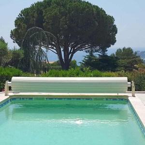 Volet piscine hors-sol automatique Silver Roll lames sable