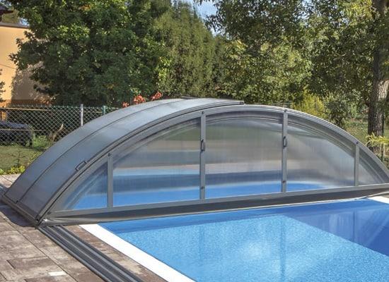 Abri piscine KLASIK coloris Gris anthracite DB 703