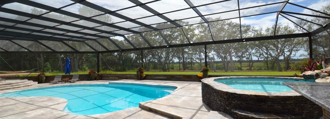 abri de piscine fixe