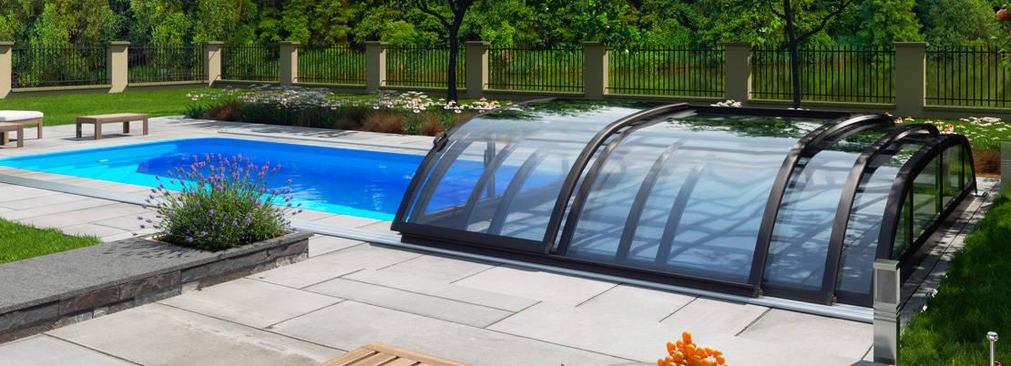Abri de piscine télescopique