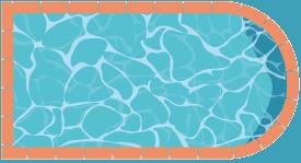 piscine rectangulaire coté en forme de demi-lune