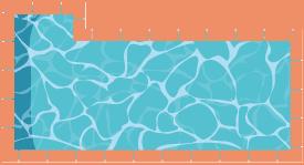 Piscine rectangulaire avec escalier excentré sur longueur