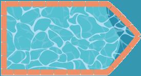 piscine rectangulaire avec pans coupés