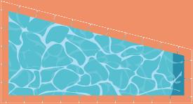piscine en forme de trapèze