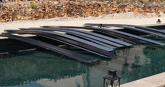 Assemblage des lames de volet piscine par encliquetage