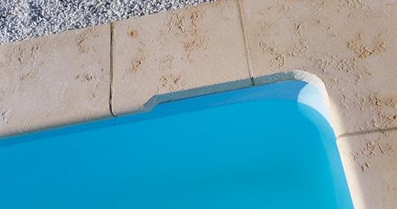 Découpe margelles pour passage lame volet piscine hors-sol