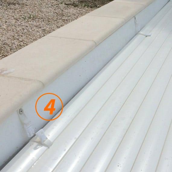 Sangle de sécurité pour volet de piscine hors-sol Silver Roll