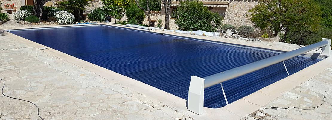 Volet automatique hors-sol pour piscine avec lames polycarbonate