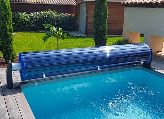 Volet piscine hors-sol avec lames polycarbonates