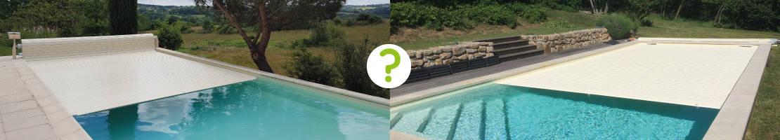 Quel choix faire entre un volet piscine hors-sol et un volet piscine immergé ?