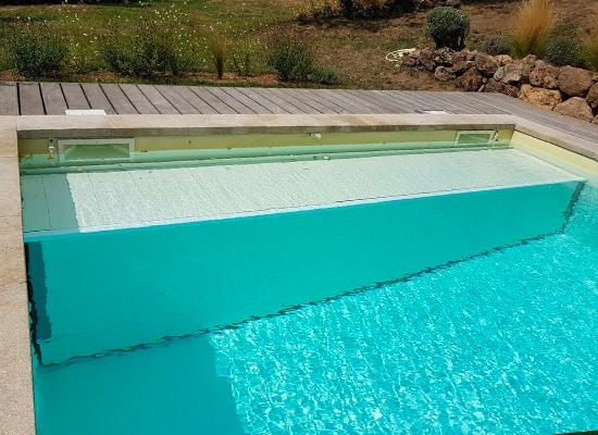Volet piscine immergé avec caillebotis immergé en PVC
